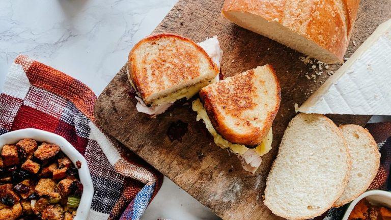 Leftover Thanksgiving Turkey Sandwich
