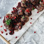 Easy Holiday Appetizer | Mediterranean Meatballs