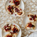 Holiday Appetizer | Brie & Pomegranate Naan Dipper